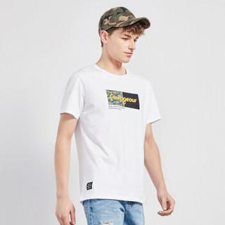 Semir 森马 19048001269 男士短袖T恤 漂白 S