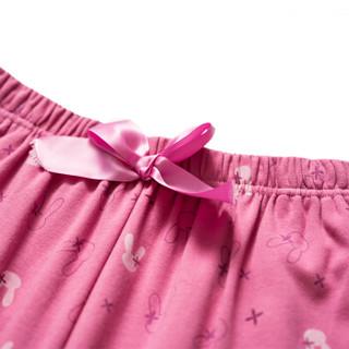 THREEGUN 三枪 1860Z752B0 女士纯棉睡裤 (M、石榴红)