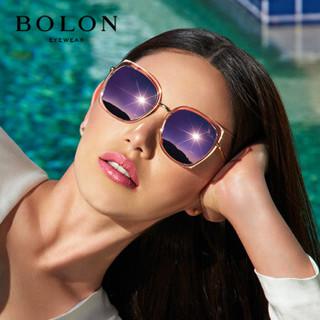暴龙BOLON太阳镜女款经典时尚眼镜蝶形框墨镜BL6059D30
