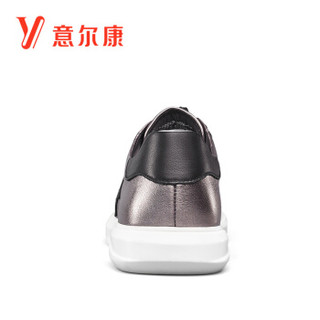 YEARCON 意尔康 7712ZE97014W 男士休闲系带单鞋 银色 38
