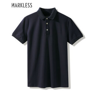 Markless TXA8656M 男士青年纯色翻领POLO衫 藏青色 XL