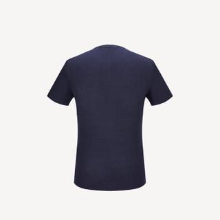 HLA 海澜之家 HNTBJ2E337A 男士V领短袖T恤 藏青 46