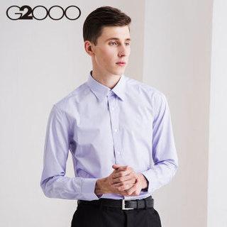 G2000 男士修身纯色休闲衬衫 (09/180、81/浅紫色)