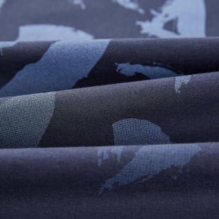 HLA 海澜之家 HNTBJ2E023A 男士渐变印花短袖T恤 藏青渐变 54
