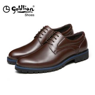 goldlion 金利来 525730144CDA 男士商务正装皮鞋 深棕色 43