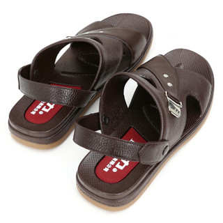 WARRIOR 回力 3577 男士休闲凉鞋拖鞋两用 棕 44
