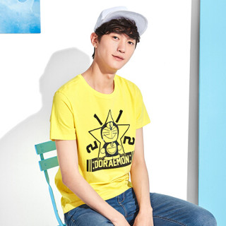 Semir 森马 12216001063 男士印花短袖T恤 柠檬黄 M