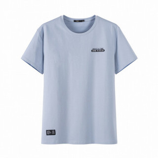 Semir 森马 19048001209 男士圆领短袖T恤 灰蓝 XXL