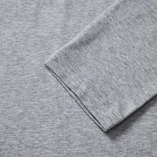 CARTELO 16057KE9502 男士纯色V领长袖T恤 灰色 XL