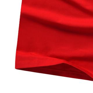 CARTELO 16057KE9537 男士印花圆领长袖T恤 红色 M