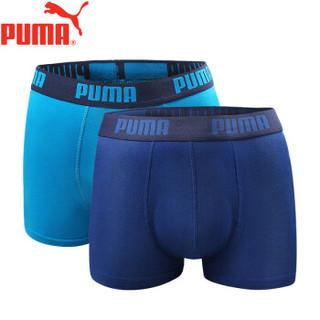 PUMA 彪马 M-1500-2 男士平角裤 (2条装、XL(175/85)、浅蓝+深蓝)