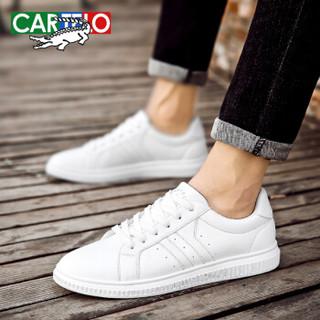 CARTELO 卡帝乐鳄鱼 KDL2663 男士运动板鞋 白色 40