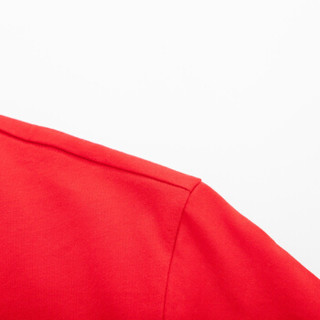 Semir 森马 19038001237 男士圆领短袖T恤 中国红 S