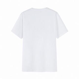 Semir 森马 19038001252 男士圆领短袖T恤 漂白 S