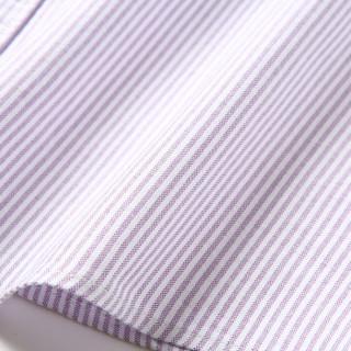 ROMON 罗蒙 8CS938807 男士短袖衬衫 紫白条 39