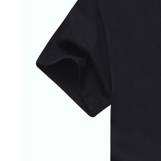 CARTELO KFT0820 男士圆领短袖T恤 黑色 M