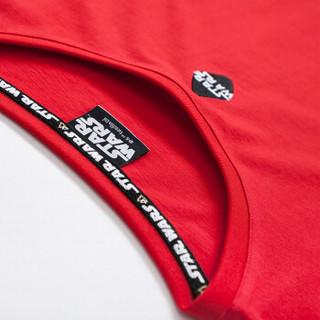 Semir 森马 19038001294 男士圆领短袖T恤 红色调 M