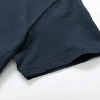 Semir 森马 19018001233 男士圆领短袖T恤 宝蓝 S
