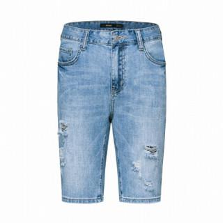 Semir 森马 19038231181 男士牛仔短裤 牛仔浅蓝 28