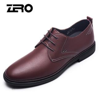 ZERO R81078 男士柔软系带皮鞋 棕色 42
