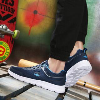 CARTELO 卡帝乐鳄鱼 CX8251 男士网面透气跑鞋 蓝色 40