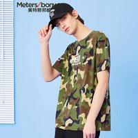 Meters bonwe 美特斯邦威 661339 男士迷彩印花短袖T恤