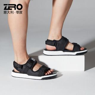 ZERO R82092 男士休闲露趾凉鞋 黑色1 42