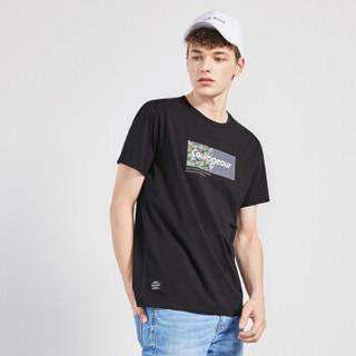 Semir 森马 19048001269 男士短袖T恤 黑色 XXL