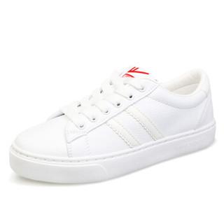 WARRIOR 回力 WXP-2200 女士系带小白鞋 白色 37