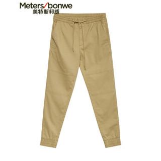 Meters bonwe 美特斯邦威 602038 男士束脚休闲裤 秸秆褐 170/78A
