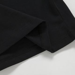 Semir 森马 12216000355 女士短袖T恤 黑色 S