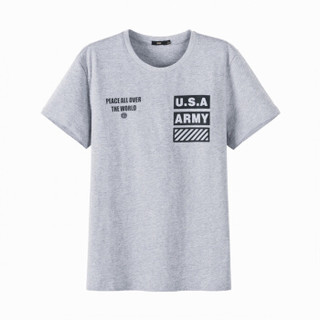 Semir 森马 19047001209 男士印花短袖T恤 中花灰 XS