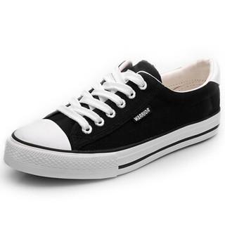 WARRIOR 回力 WXY45A 中性帆布鞋 黑色 39