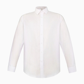 INTERIGHT 100支双小珠地衬衫男士商务免烫长袖 白色 39码