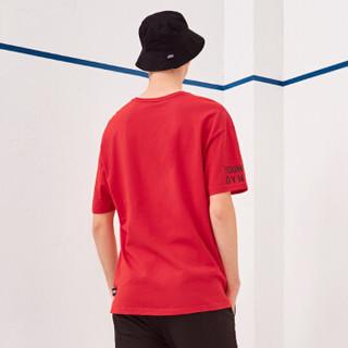A21 4821330068 男士印花圆领短袖T恤 大红 M