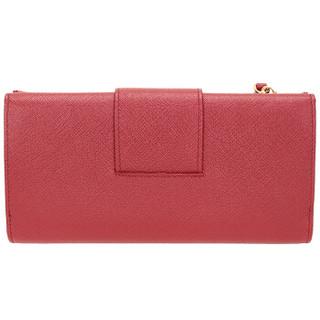 PRADA 普拉达 女士红色牛皮长款钱包钱夹 1ML006 QWA F068Z