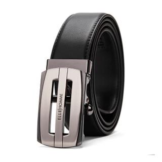 ELLE HOMME 10400111624718035 男士皮带自动扣皮带 黑色