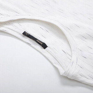Semir 森马 19038001228 男士圆领T恤 花白色调 XL