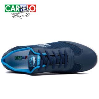 CARTELO 卡帝乐鳄鱼 KDLK20 男士网面运动鞋 蓝色 43