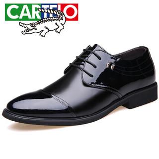 CARTELO 卡帝乐鳄鱼 2057 男士增高商务皮鞋  黑色 40