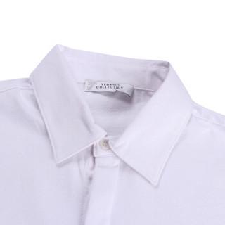 VERSACE COLLECTION 范思哲 奢侈品 春夏款 男士白色棉质短袖POLO衫 V800753C VJ00180 V1001 XL码