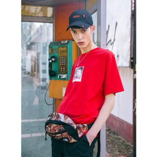 ViiSHOW TD1568182 男士圆领纯色短袖T恤 红色 L