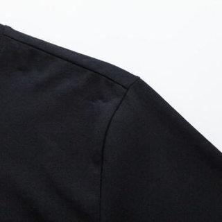 Semir 森马 19048001304 男士短袖t恤 黑色 XS
