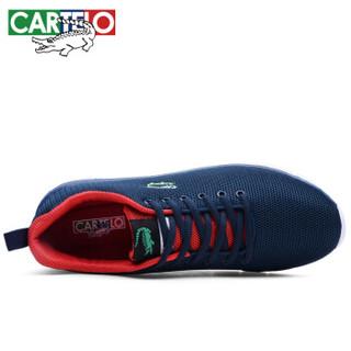CARTELO 卡帝乐鳄鱼 KDL889 男士透气网面板鞋 KDL889 深蓝 41