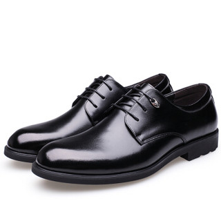 CARTELO 卡帝乐鳄鱼 2511 男士商务增高皮鞋 黑色 41