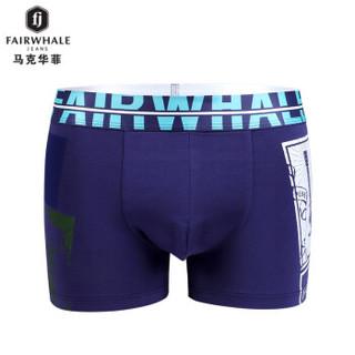 MARK FAIRWHALE 马克华菲 8049 男士平角裤 (3条礼盒装、XXXL、欧美潮流)