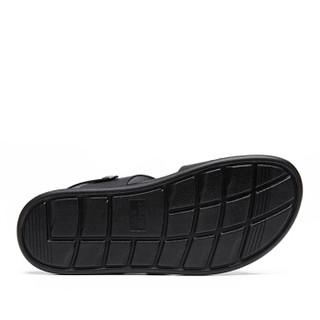 Semir 森马 518217120 男士罗马凉拖鞋 黑色 39