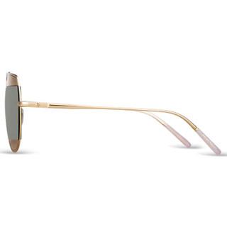 海伦凯勒墨镜新品 偏光太阳镜男女款拼接蛤蟆镜 开车眼镜 H8602HD11 银框+茶灰镀膜水银镜片