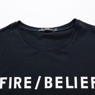 Semir 森马 12037001026 男士短袖T恤 黑色 M