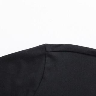 Semir 森马 19057011216 男士圆领长袖T恤 黑色 S